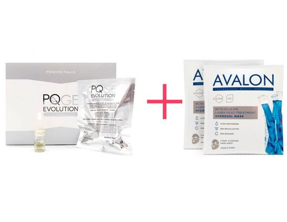 Набор: пилинг PQAge Evolution Plus (3 ml) и 2  Avalon Hydrogel Mask